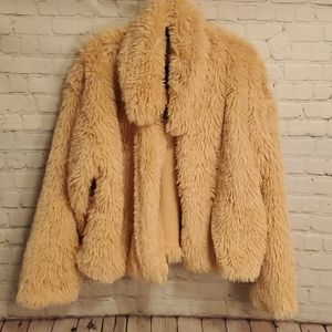 Wild Fable Pink Fuzzy Jacket 2X